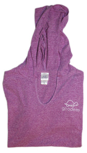 Ladies Spirit V-Neck Hoodie (Purple)