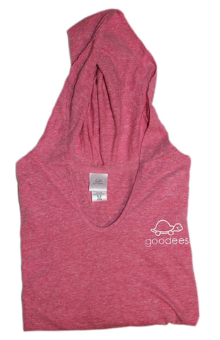 Ladies V-Neck Spirit Hoodie (Cosmo Pink)