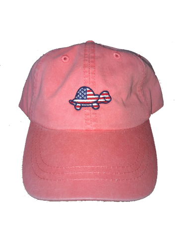 Turtle USA Hat  (Salmon)