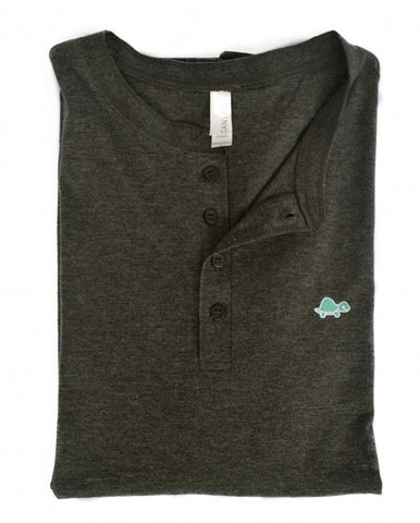 Henley Turtle Tee (Gray)