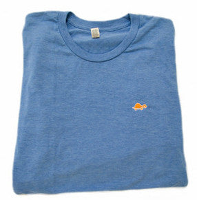 Short-Sleeve Turtle Tee (Light Blue)