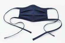 Load image into Gallery viewer, Organic Cotton Face Mask with Flexible Nose and Ties- Navy