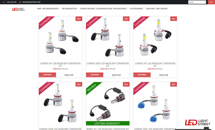 Listings for LED Lights Example