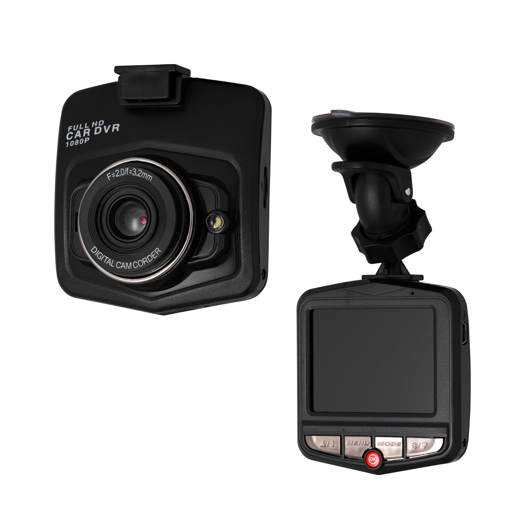 "Dash Cam 2.4"" Screen  1080P HD Super wide angle 140° w 32gb Sd card"