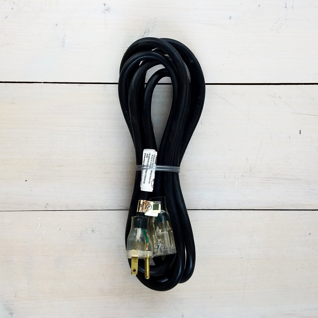 10' 14/3 SJTW Black Extension Cord with Lighted End
