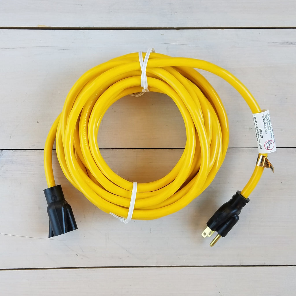25' 14/3 SJTW Yellow Extension Cord - USA