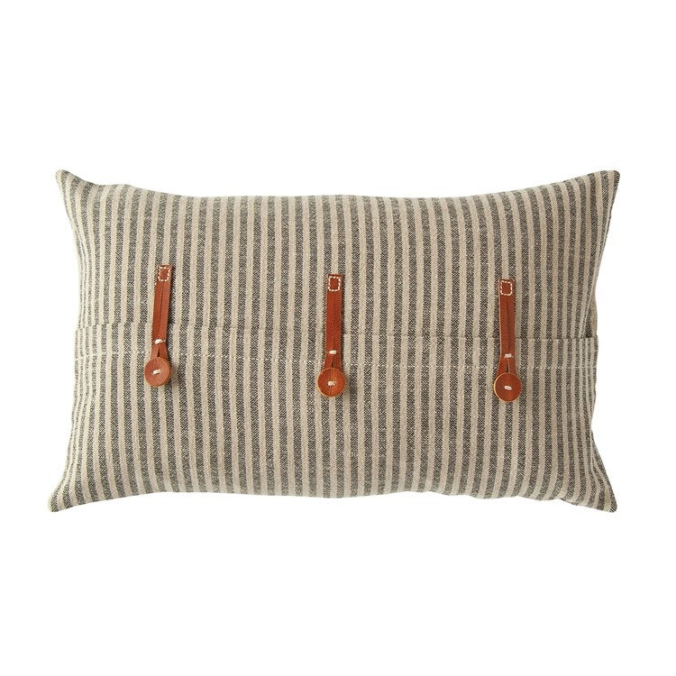 Ticking Stripe Pillow - Shackteau Interiors