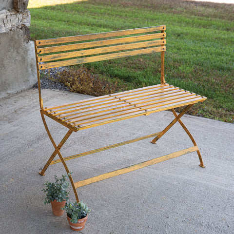 Yellow Iron Bench