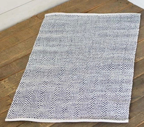 Hand Woven Blue/Gray Rug - Shackteau Interiors