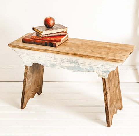 Wooden Scalloped Bench - Shackteau Interiors