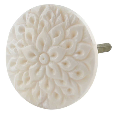 Cream Calendula Bone Knob