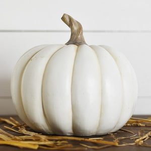 White Resin Pumpkin