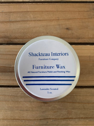 Shackteau Interiors Furniture Wax 5 oz. Lavender Scented