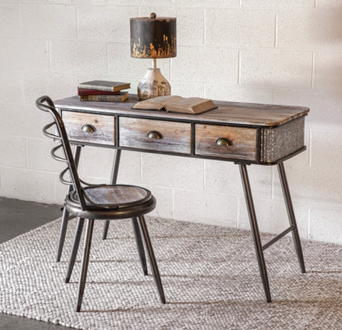 Industrial Desk and Chair Set - Shackteau Interiors