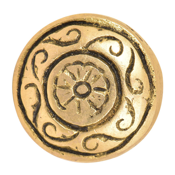 Brass Carved Knob - Shackteau Interiors