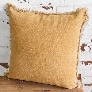Dusty Yellow Pillow - Shackteau Interiors