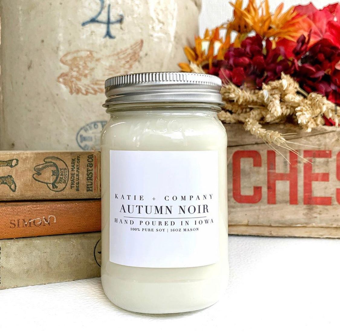 Fall Collection 16 oz. Mason Jar Candle