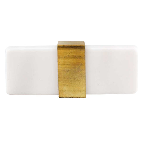 White Resin Flat Tube Knob