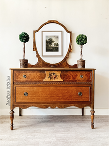 Antique Dresser and Mirror