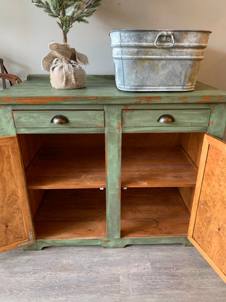 Chippy Pine Cabinet