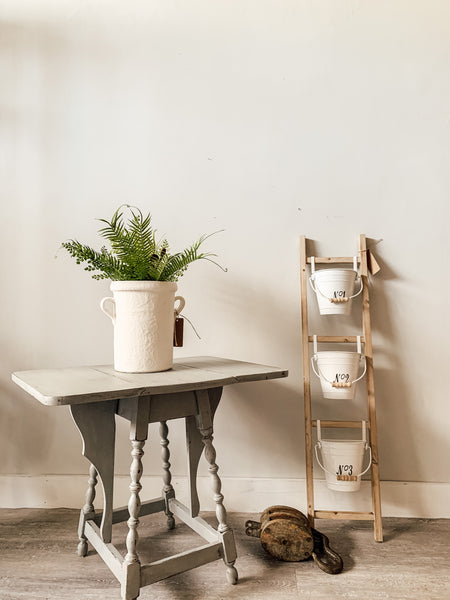 Hanging Ladder with Numbered Buckets - Shackteau Interiors