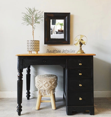 Rustic Black Desk