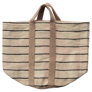 Striped Jute Beach Bag - Shackteau Interiors