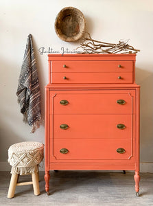 Vintage Powder House Pink Dresser