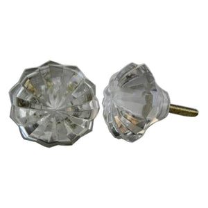 Clear Glass Knob - Shackteau Interiors
