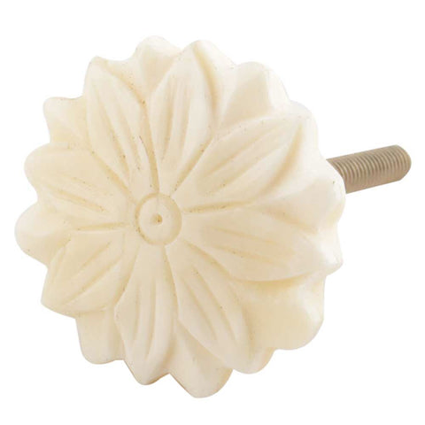 Cream Sunflower Bone Knob - Shackteau Interiors