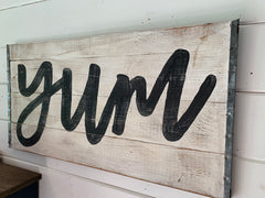Hand Painted Yum Sign