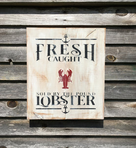 Hand Painted Lobster Sign - Shackteau Interiors