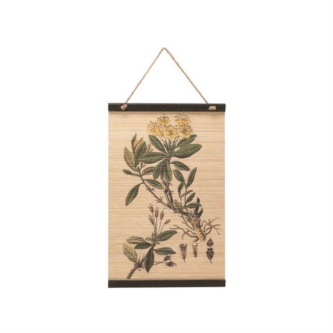 Natural Floral Wall Scroll - Shackteau Interiors