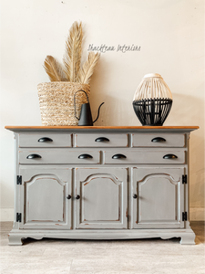Vintage Coastal Gray Buffet