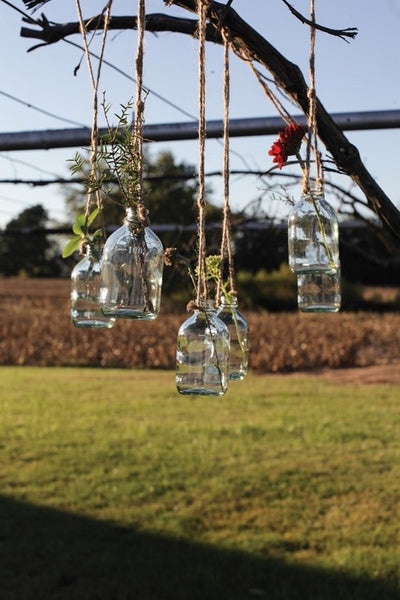 Hanging Glass Bottle - Shackteau Interiors