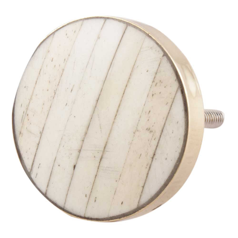 Cream and Gold Bone Knob