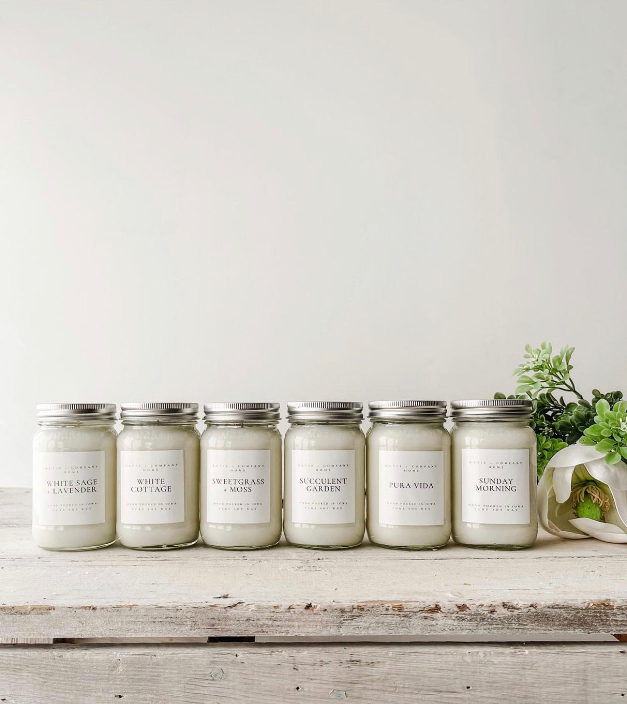 Spring Collection 16 oz. Mason Jar Candle
