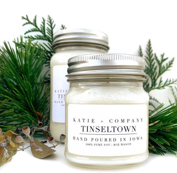 Winter Collection 8 oz. Mason Jar Candle