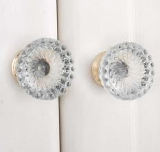Lotus Cut Glass Knob - Shackteau Interiors