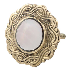 Brass Mother of Pearl Knob