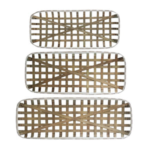 Rectangular Tobacco Baskets - Shackteau Interiors