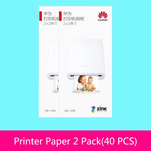 AR Printer 300dpi Original Huawei Zink Portable Photo Printer Honor Pocket Printer Bluetooth 4.1 Support DIY Share 500mAh