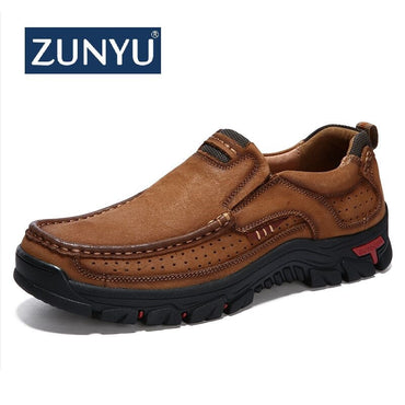 ZUNYU New Genuine Leather Loafers Men Moccasin Sneakers Flat High Quality Causal Men Shoes Male Footwear Boat Shoes Size 38-48