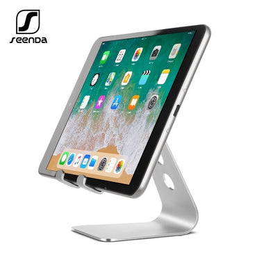 SeenDa Universal Aluminium Stand Desk Holder For Xiaomi Mobile Phone Holder For iPhone Metal Tablets Stand For ipad Black Friday