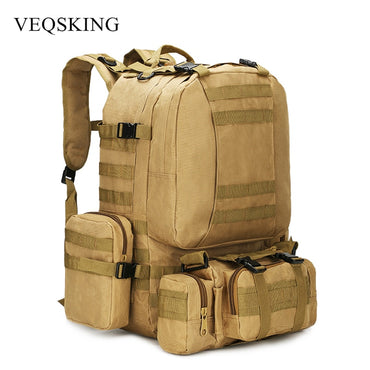 50L Tactical Backpack,4 in 1 Military Backpack,Army Molle Outdoor Sport Bag,Men Camping Hiking Travel Climbing Backpack Tactical