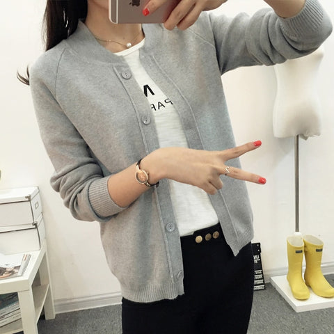 OHCLOTHING New spring summe 2019 female knit cardigan sweater coat short female a little shawl knitted jacket female 12 color