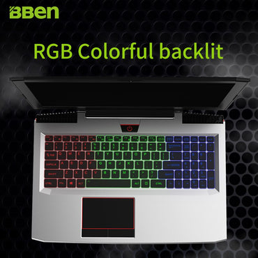 BBEN G16 laptop i7 7700HQ 15.6 inch gaming Notebook fast running 32GBRAM+512GB SSD+2TB HDD 1920x1080 FHD wifi IPS screen