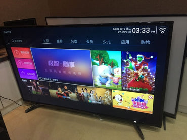 55 inch 4k Full HD Smart TV set android lan/wifi T2 global version led television TV (free shipping to Guangzhou China )