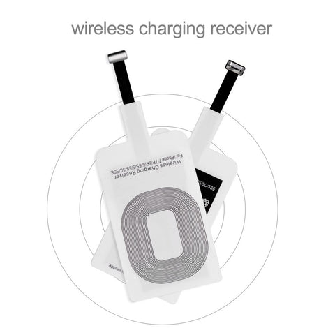 PUTHUS QI Wireless Charger Receiver For iPhone 5s 7 6 Plus Universal Wireless Charging Receiver for Micro USB Type-c Phone