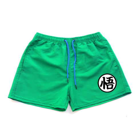 Summer Funny Print Shorts Men fashion Dragon Ball Goku Black Hot Pockets Waistband Mens Shorts Knee Fashion Sweatpants Casual